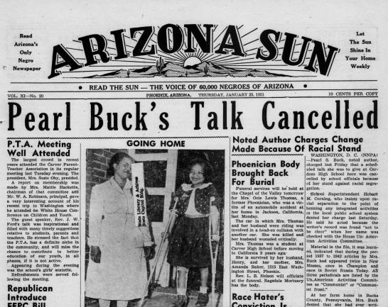 Pearl Buck talk cancelled