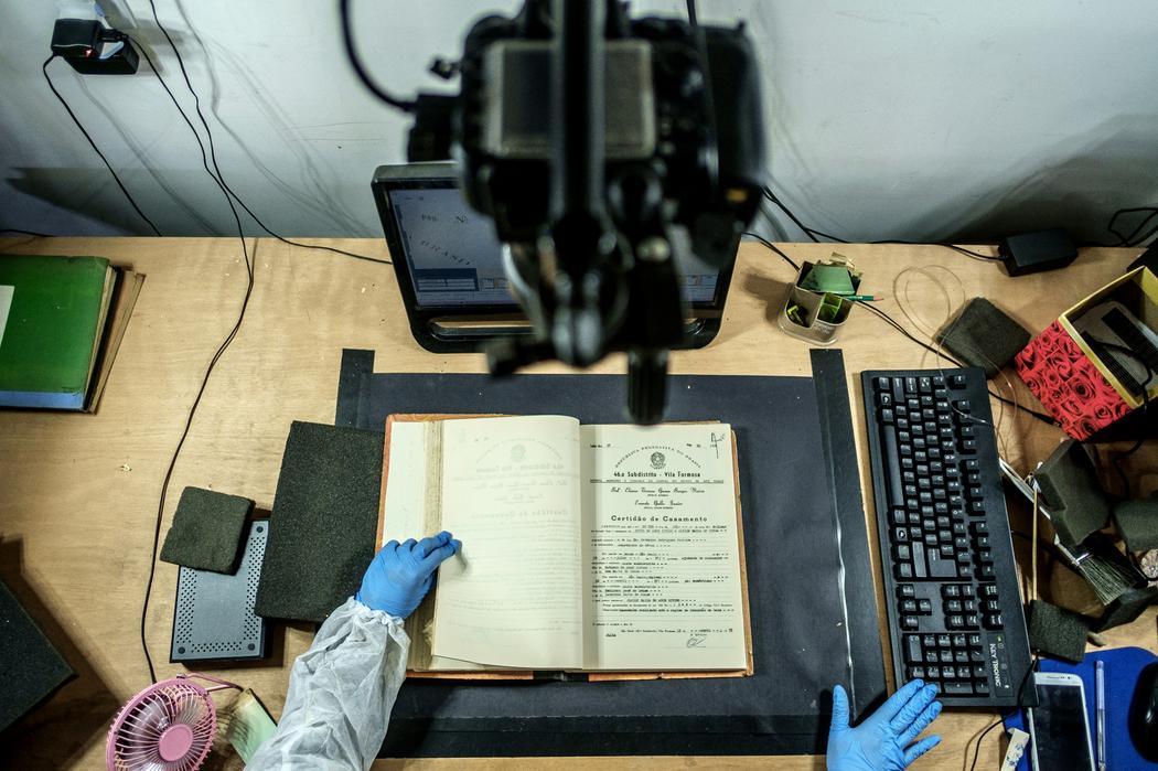 Uma de nossas estruturas de digitalização de documentos