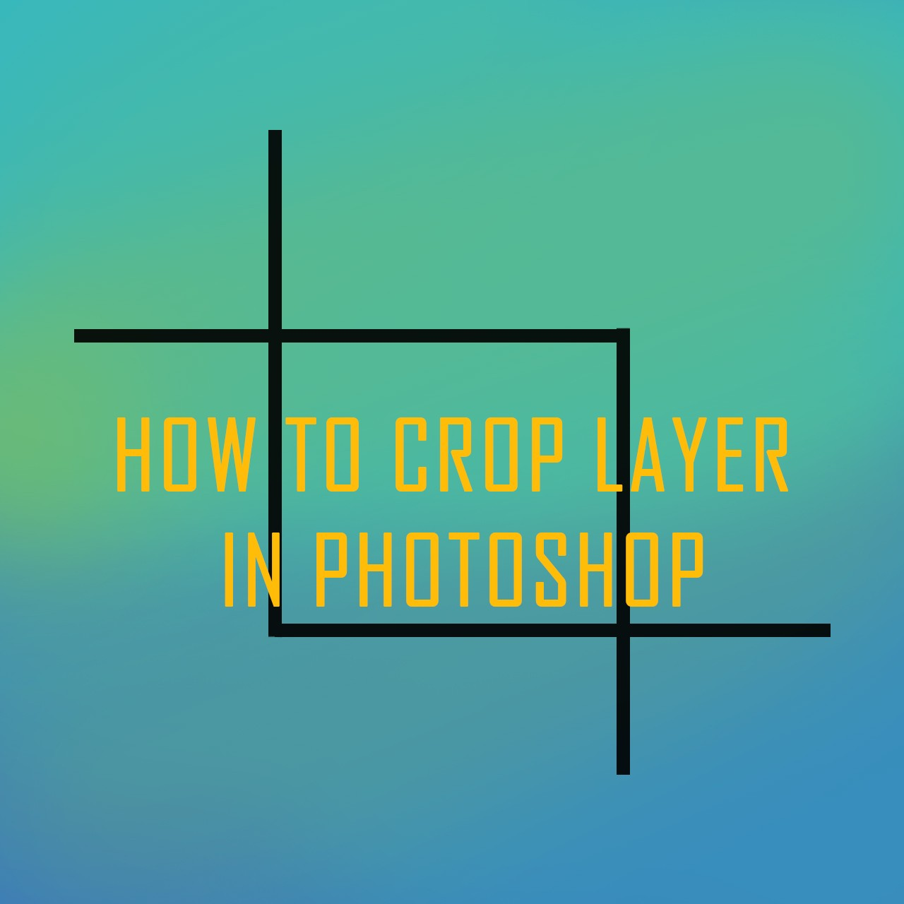 How to crop layer in photoshop