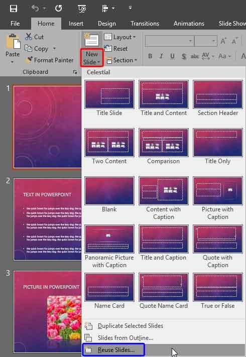 Reuse Slides Powerpoint : reuse, slides, powerpoint, Working, Slides:, Reuse, Slides, PowerPoint, Presentations, Glossary