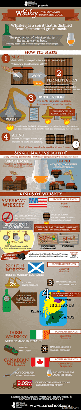 infographic About DIFFERENCE BETWEEN BOURBON & WHISKEY