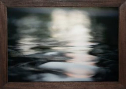 Well Again, Barry Sherbeck, Photograph on metallic paper; mahogany, 2012, 20 x 28, John 5:14, $350