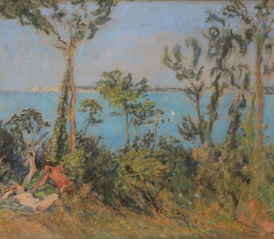 Ker Xavier Roussel: Faunes et baigneuses en bord de mer