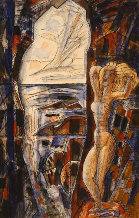 Marcel Gromaire, La falaise creuse