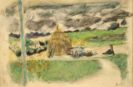 Pierre Bonnard : Paysage près de Vernon