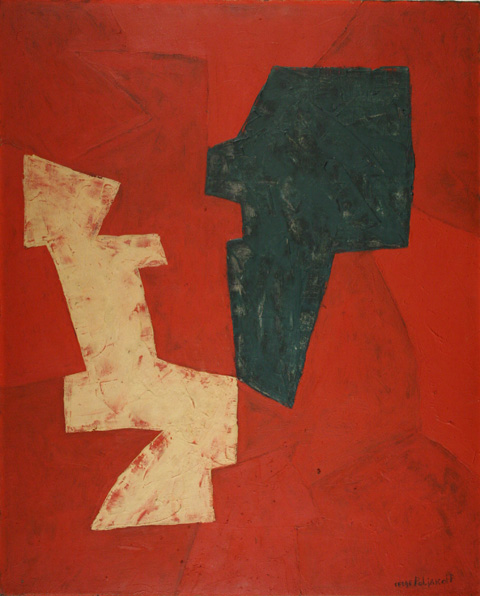Serge-Poliakoff : Composition abstraite,1954