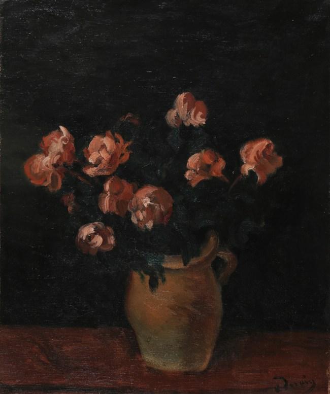 André Derain, Bouquet de fleurs dans un pot, Oil on canvas, 46 x 38 cm