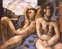 """Exhibition """"Marcel Gromaire, oils on canvas ans works on paper"""", in 2000, at Pavillon des Antiquaires et des Beaux-Arts, by Galerie de la Présidence"""