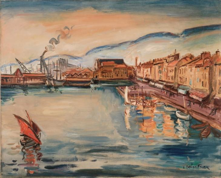 Emile-Othon Friesz, Port de Toulon, Oil on canvas