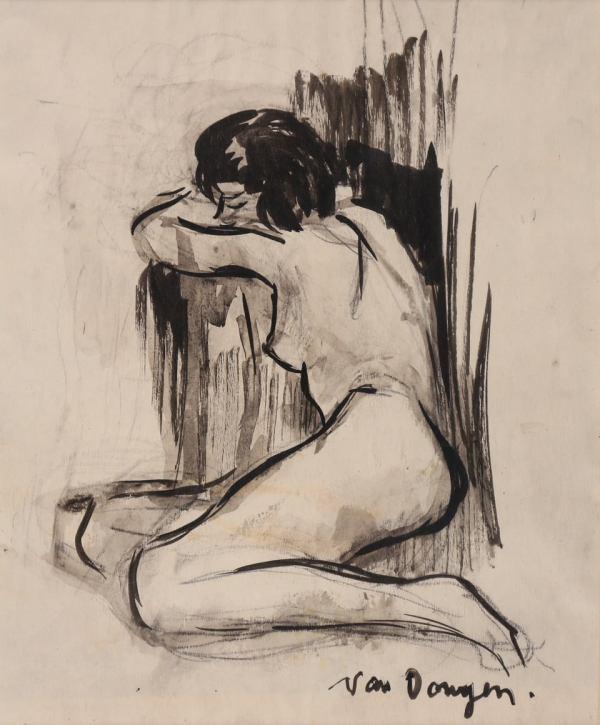 Kees Van Dongen, Nu, Circa 1900, Encre