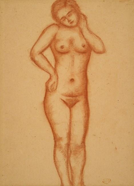 Aristide Maillol, Femme nue debout, 38 x 27 cm