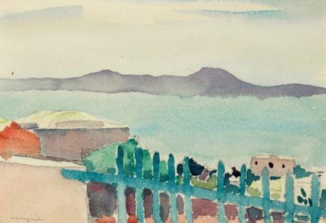 Albert Marquet Sidi Bou Saïd 1923 Watercolor 17,8 x 24,1 cm SOLD