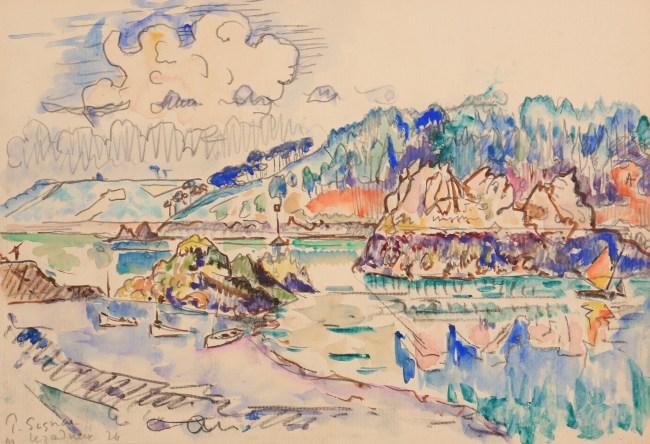 Paul Signac, Lézardrieux, 1924, Watercolor 21,5 x 30,1 cm