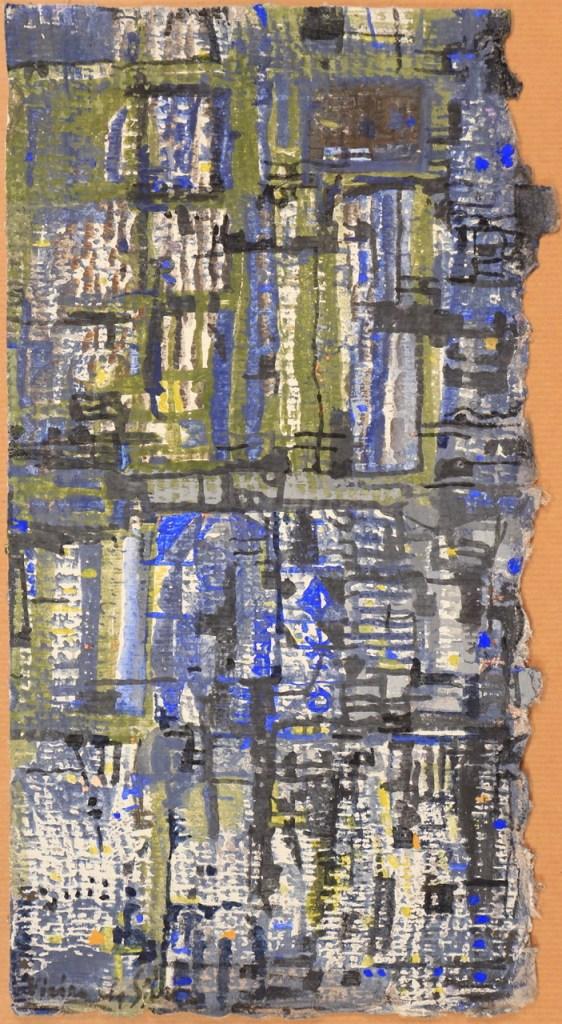 Maria Elena Vieira da Silva, Composition, 1978, Gouache, 34,5 x 19 cm