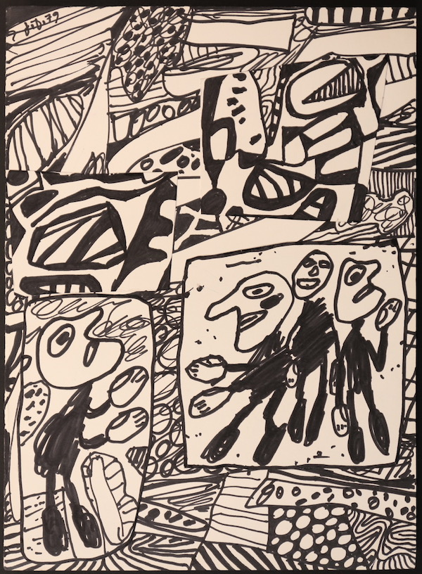 Jean Dubuffet Sans titre 1979Ink and collage 35 x 25 cm