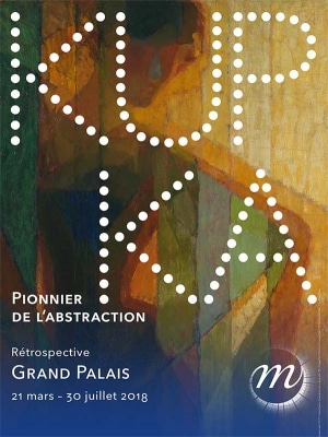 Poster of the exhibition Kupka, Grand Palais, 2018