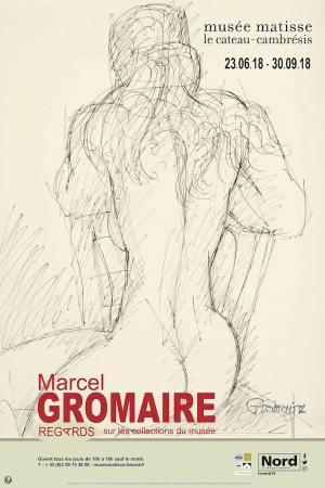 """Poster of the exhibition """"Marcel Gromaire - regards sur les collections du musée"""""""