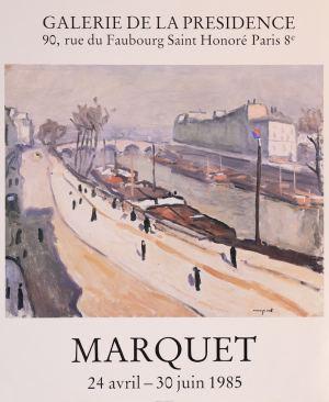 Affiche de l'exposition Marquet, à la Galerie de la Présidence en 1985