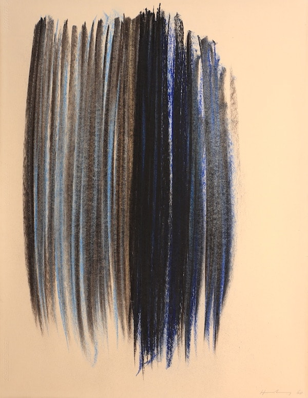 Hans Hartung Composition 1960 Pastel 65 x 50 cm