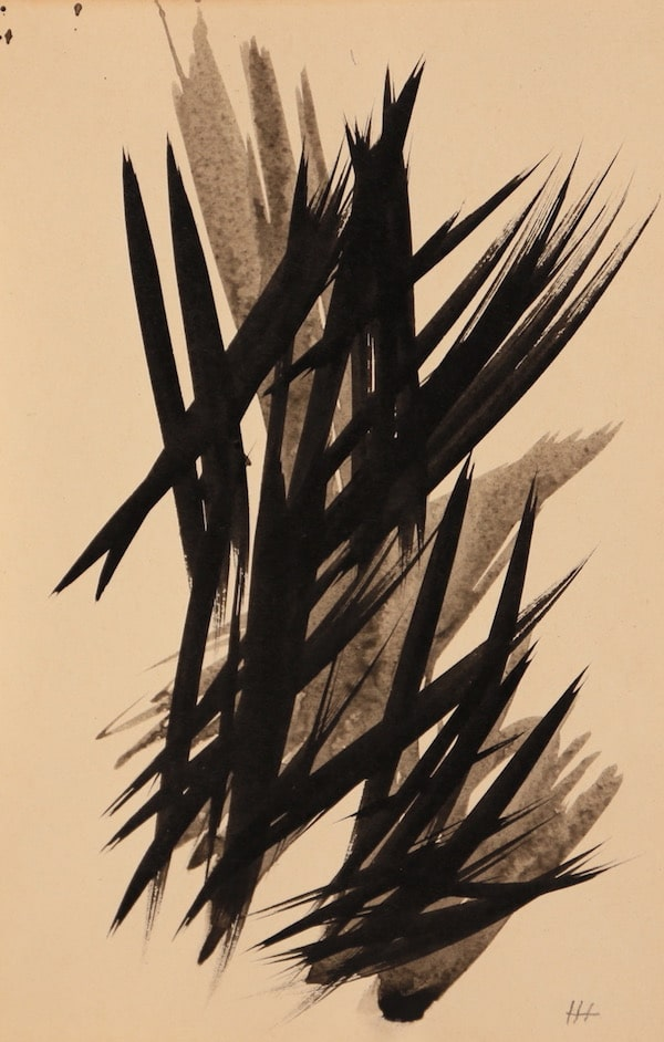 Hans Hartung Les figures du mouvement, VII 1956 Ink 19 x 12,5 cm