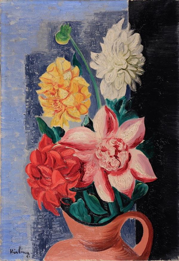 Moïse Kisling Fleurs 1930 Huile sur toile 55 x 38 cm