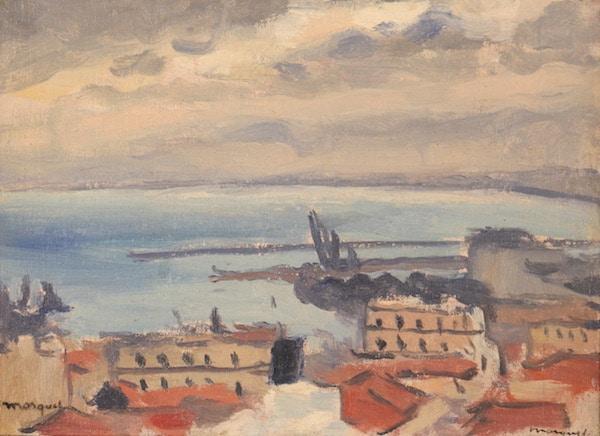 Albert Marquet La Rade, Alger Oil on canvas 1939-40 15,7 x 21,7 cm