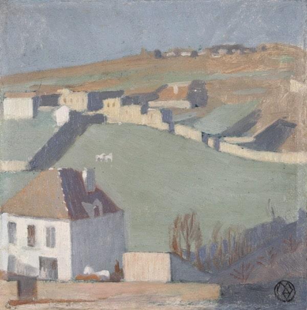 Maurice Denis Pré aux chevaux Circa 1894-95 Huile sur carton 25,3 x 25 cm VENDU