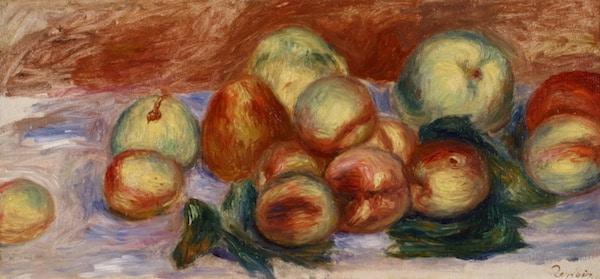 Auguste Renoir Nature morte aux fruits Oil on canvas SOLD
