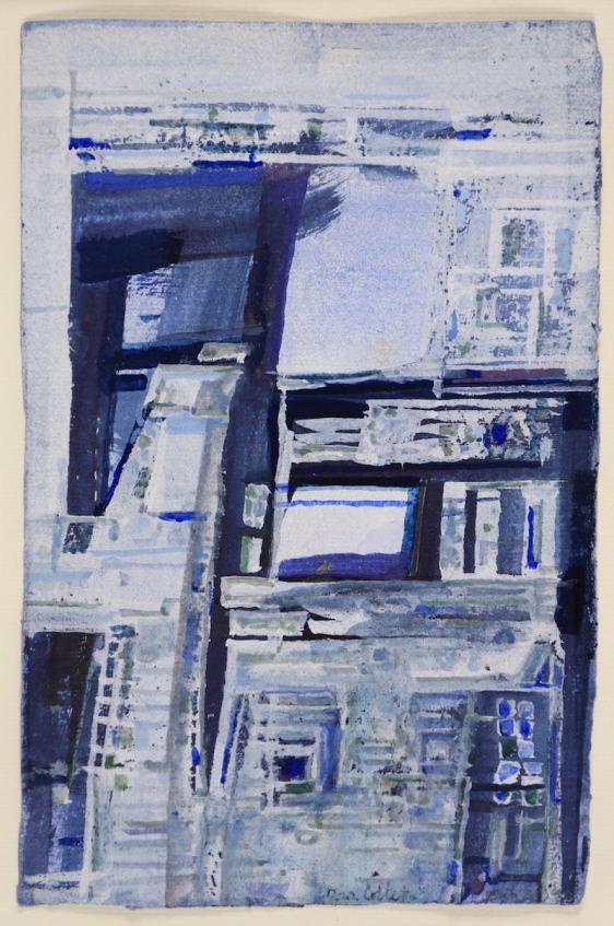 Maria Elena Vieira da Silva, Composition, 1965, gouache, 25 x16,5 cm