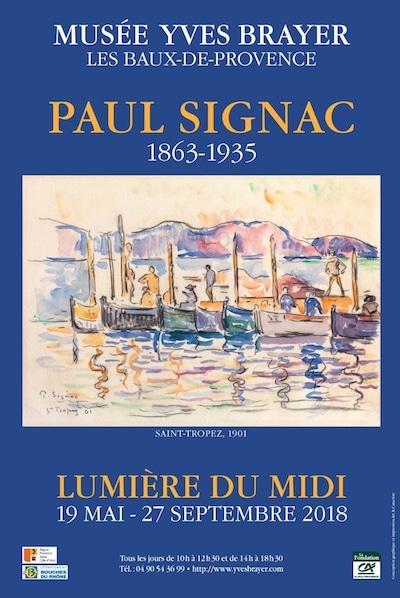 """Poster of the exhibition """"Paul Signac (1863-1935) : La lumière du midi"""