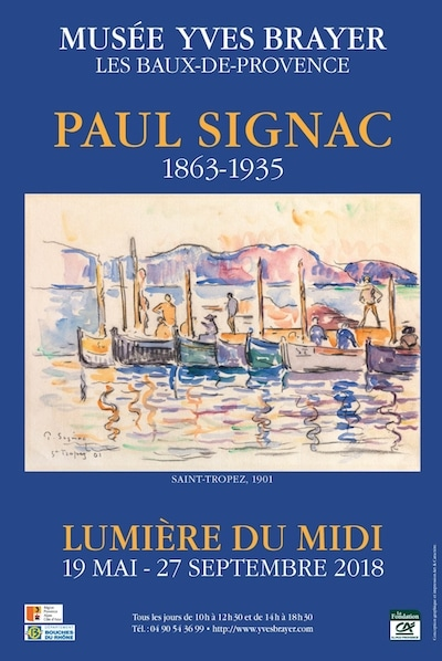 "Poster of the exhibition ""Paul Signac (1863-1935) : La lumière du midi"