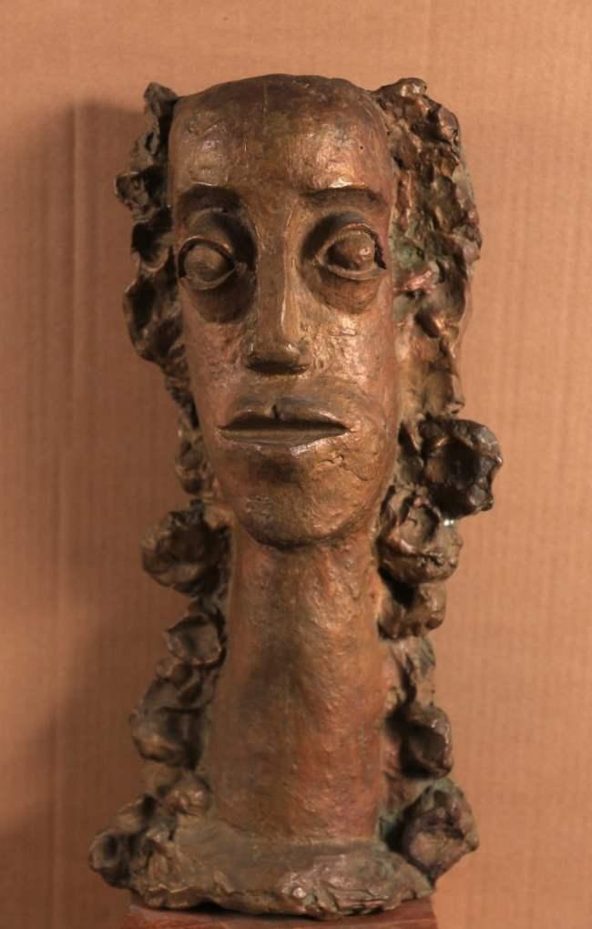 André Derain Femme aux cheveux longs revenant sur la poitrine n° 6-11 Bronze, H 38,5 cm
