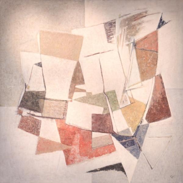Geer Van Velde Composition 1964 Huile sur toile, 162 x 162 cm