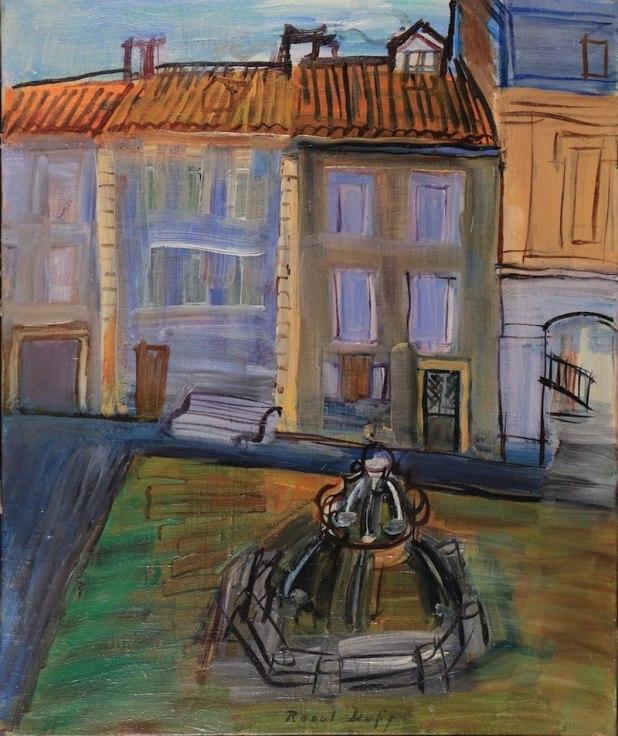 Raoul Dufy Fontaine à Aspet 1945 Huile sur toile, 46 x 38 cm