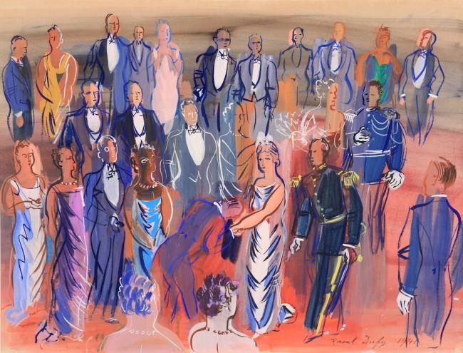 Raoul DUFY: Réception mondaine, 1941