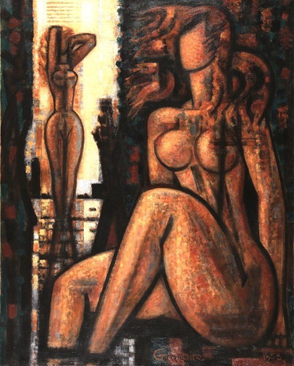 Marcel Gromaire, Etude de deux baigneuses, 1953, hst, 81x65cm