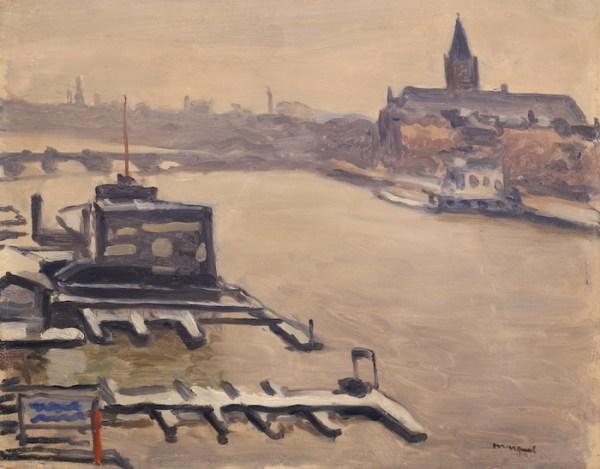 Albert Marquet, La neige, Amsterdam, 1938, Huile sur panneau, 32,5 x 41 cm