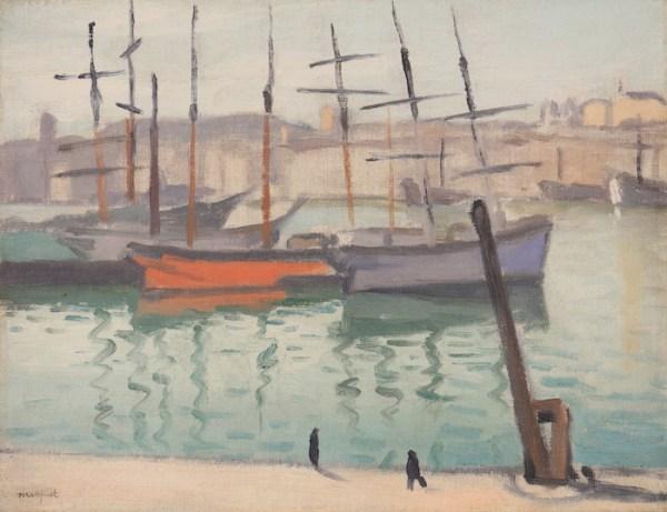 Albert Marquet, Le port de Marseille, 1916, Huile sur toile, 27 x 35 cm