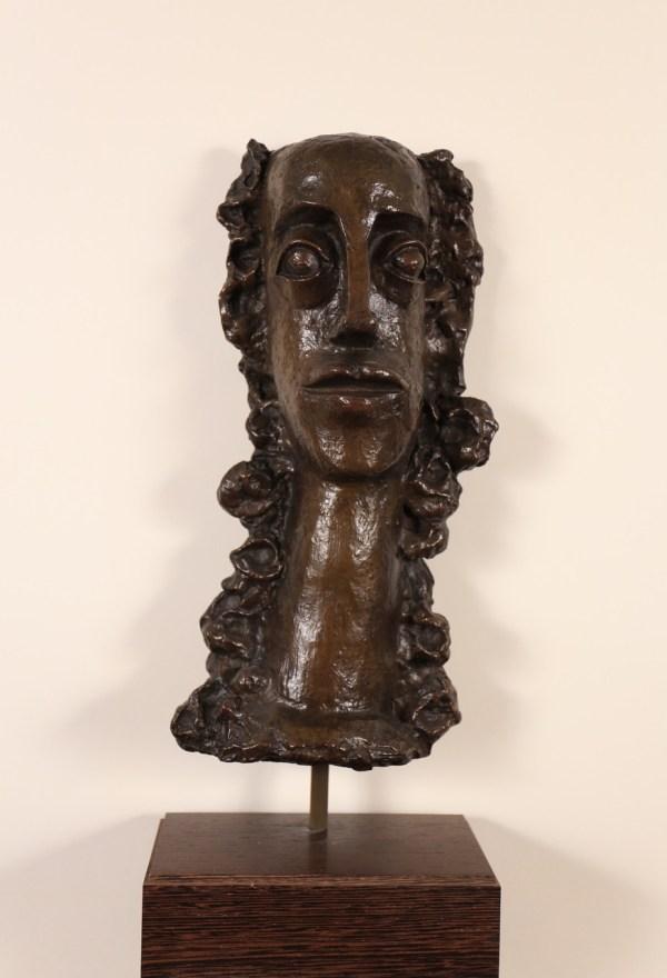André Derain, Femme aux cheveux longs revenant sur la poitrine, Bronze, n°6/11 - Sculpture
