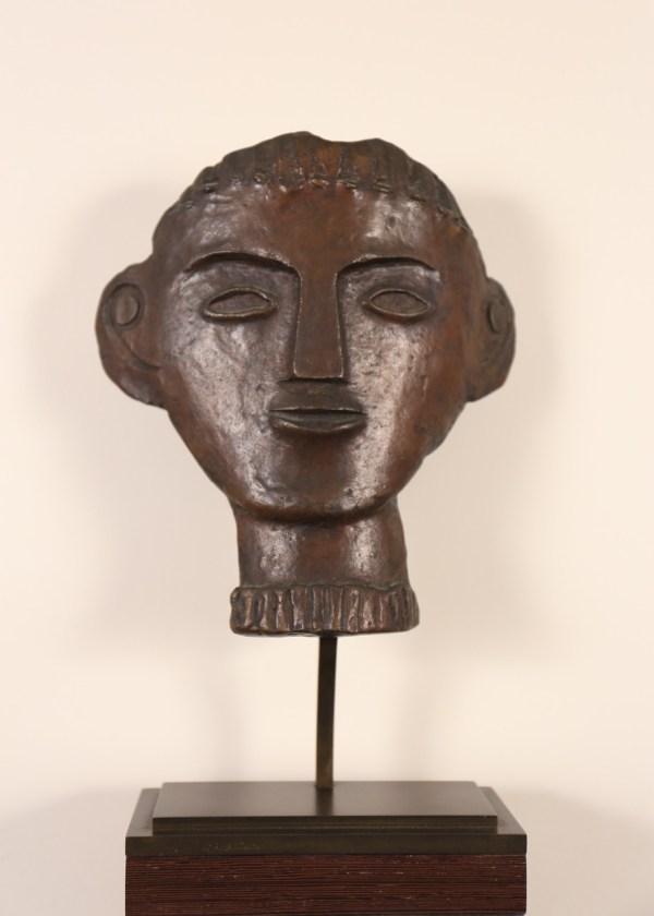 André Derain , Visage géométrique, Bronze, n°10/11 - Sculpture