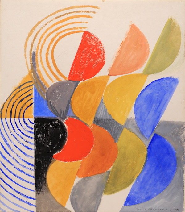 Sonia Delaunay, Composition n°534, 1955, Gouache, 65 x 55 cm