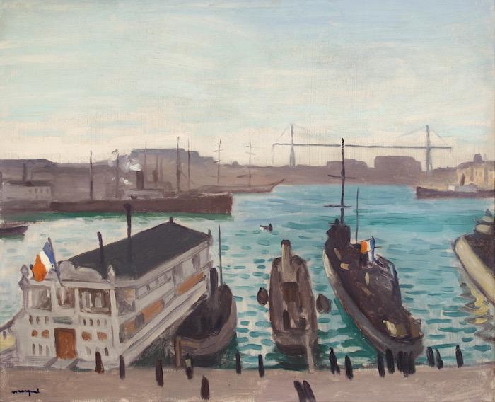Albert Marquet, Marseille, le cercle nautique et le pont transbordeur