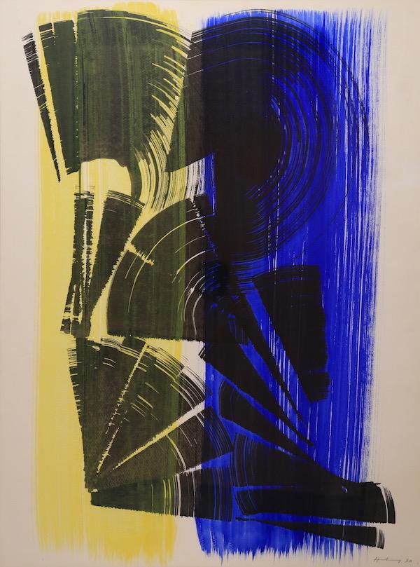 Hans Hartung Composition 1970 Gouache 80 x 60 cm