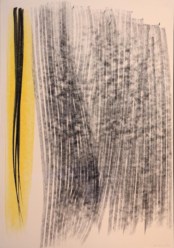 Hans Hartung Composition 1983 Pastel 73,5 x 51 cm