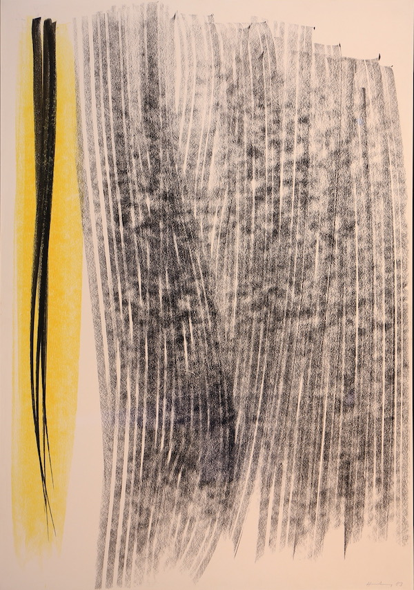 Hans Hartung Composition 1983 Pastel 73,5 x 51 cm