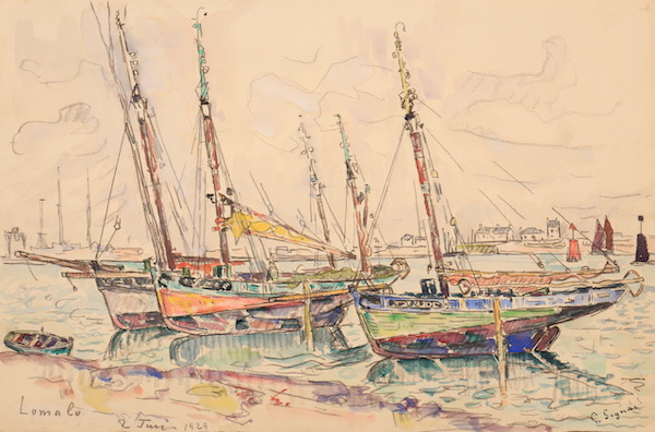 Paul Signac Lomalo 1929 Watercolor29,5 x 44,7 cm