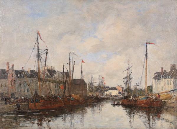 Eugene BOUDIN Le Bassin du commerce Bruxelles