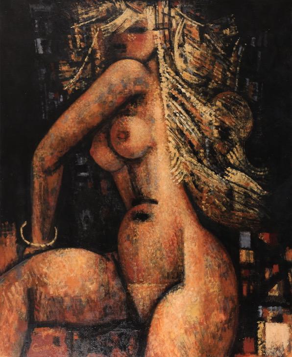 Marcel Gromaire, Nu blond sur fond noir