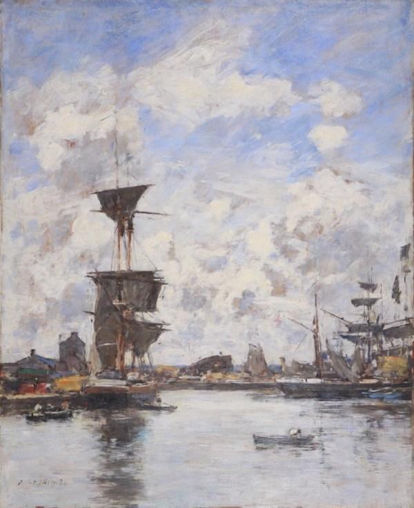 Eugène Boudin, Deauville, le bassin 1884