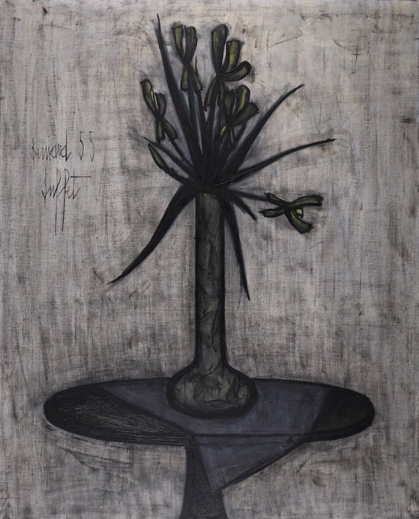 Bernard Buffet, Les iris, 1955, Oil on canvas